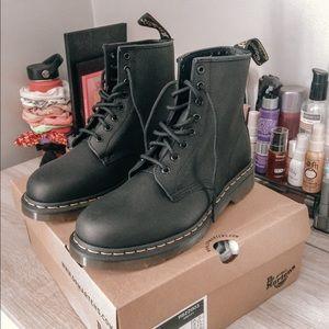 Black Dr. Martens lace up boots